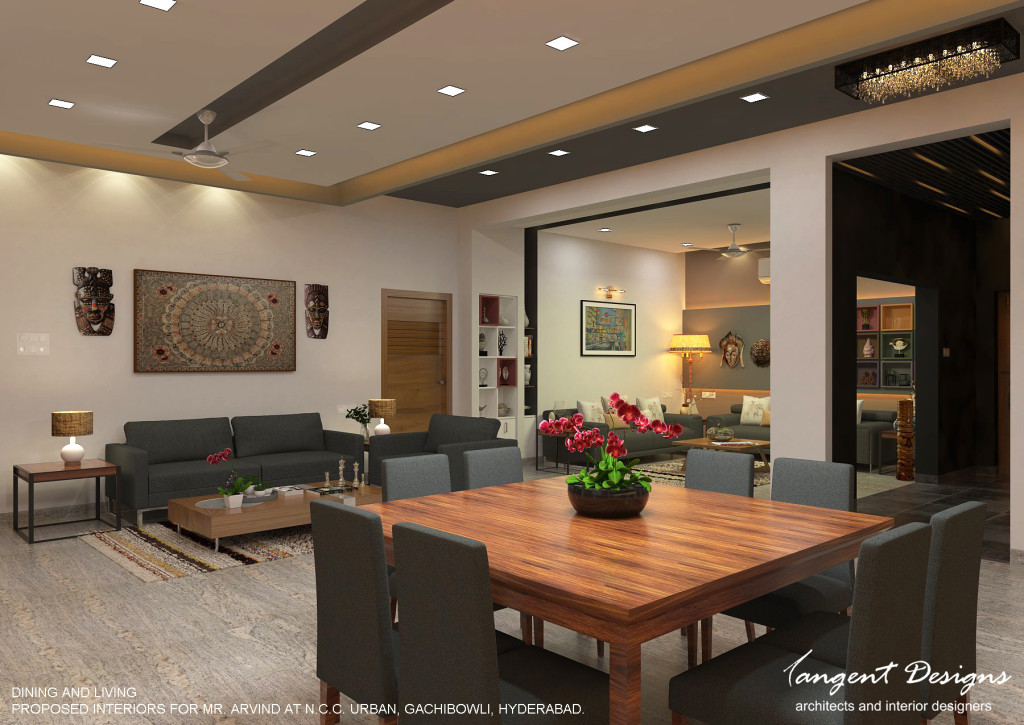 04- DINING LIVING DRAWING AND ENTRANCE LOBBY